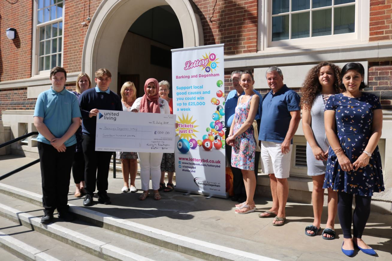 Barking and Dagenham Lottery Superdraw Cheque Presentation