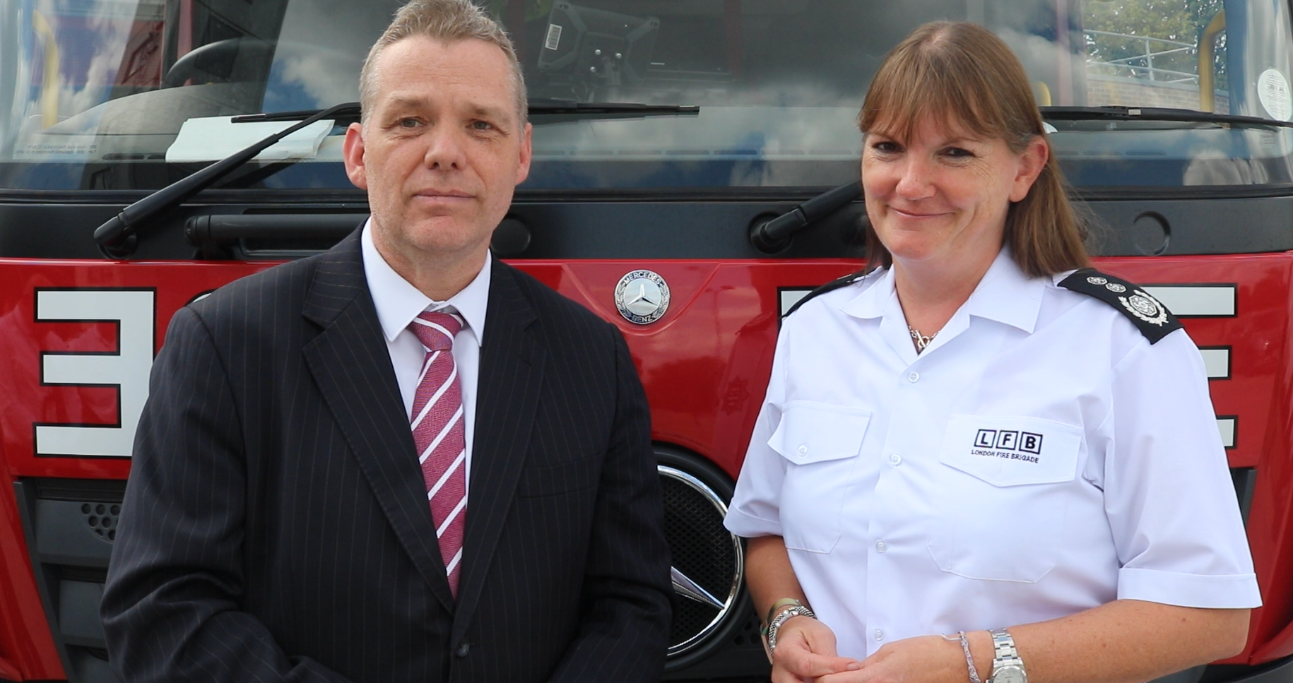 Cllr Darren Rodwell and Commissioner Dany Cotton