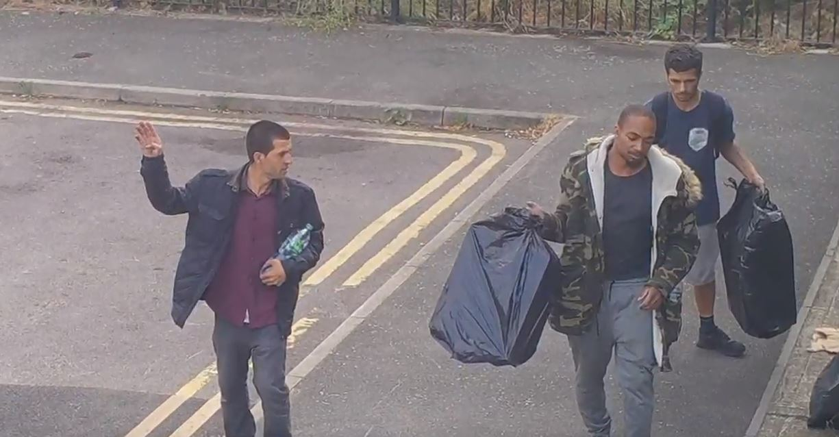 three individuals caught on camera at westminster gardens fly-tipping