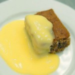 Chocolate sponge and custard