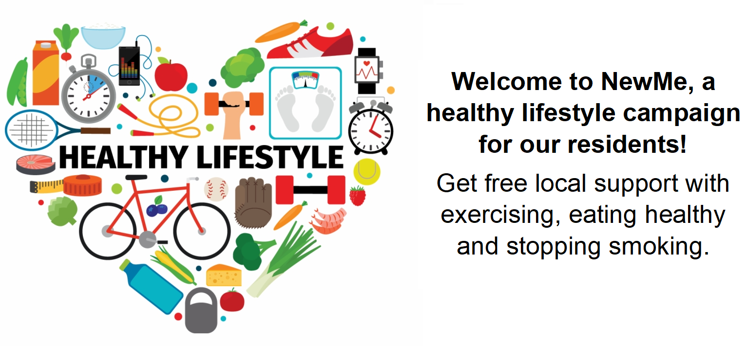 Welcome to NewMe, a healthy lifestyles campaign run by Barking and Dagenham council for its residents! Get free local support to achieve and maintain a healthy weight by exercising, eating healthy and stopping smoking.