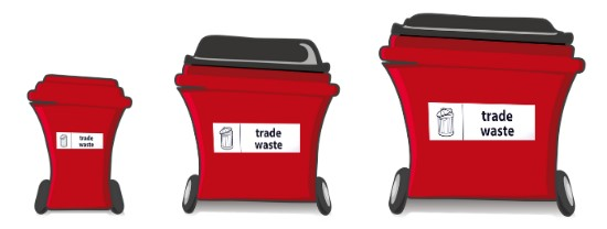 Commercial waste bins