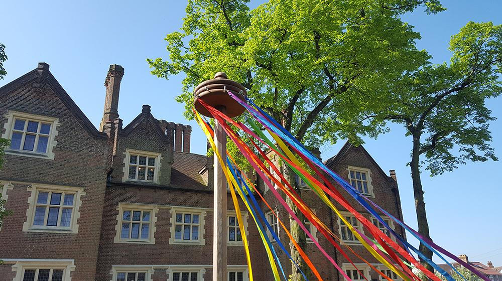 Maypole at Eastbury Manor House