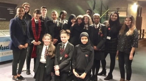 Eastbury students at the Barbican