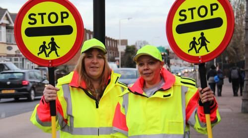 Crossing patrol officer return to Dagenham school